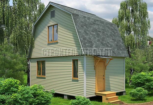 Количество опорных блоков для домика 6 на 6
