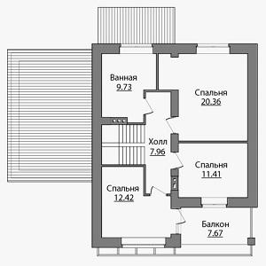 План дома-377