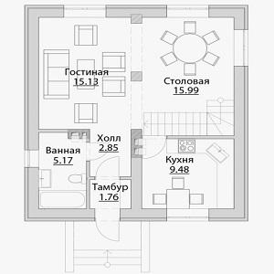 План дома-380