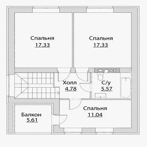 План дома-386