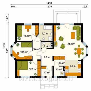 План дома-399.16