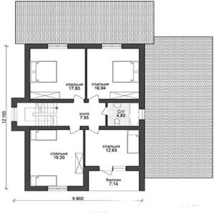 План дома-399.3