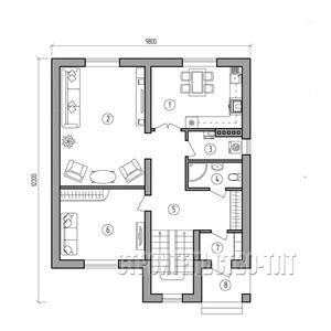 План дома-344