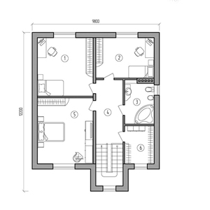 План дома-345