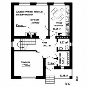 План дома-349