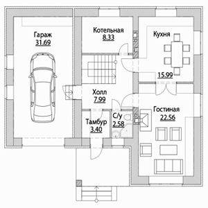 План дома-350
