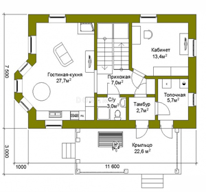 План дома-352