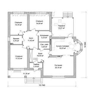 План дома-355
